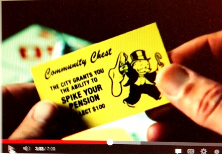 "Stockton bankruptcy video used ""Monopoly"" board game theme"