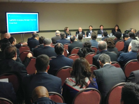 Private equity panel at CalPERS emerging manager forum