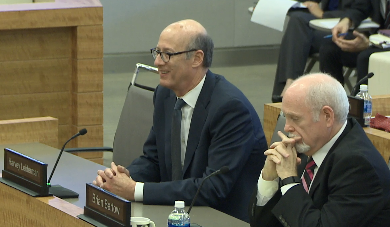 CalSTRS attorneys Harvey Leiderman, left, and Brian Bartow